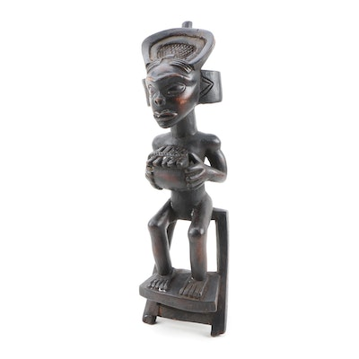 Decorative Wooden Chokwe Style Figure