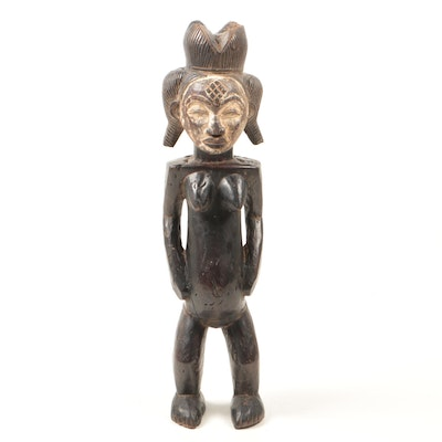 Decorative Wooden Punu Style Sculpture