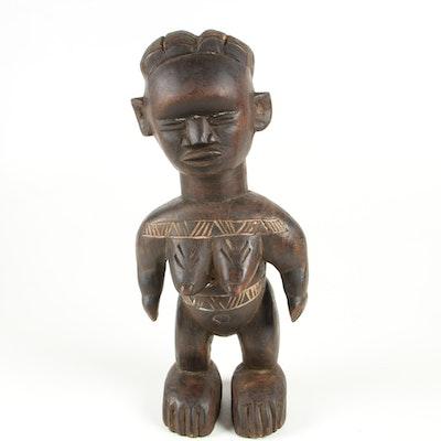 Decorative Wooden Sculpture from Liberia