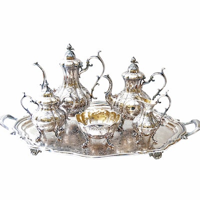 "Reed & Barton ""Winthrop"" Silver Plate Tea and Coffee Service"