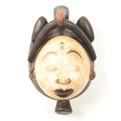 Decorative Wooden Punu Style Mask