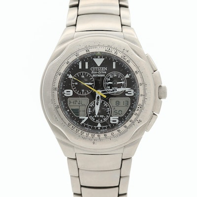 Citizen Eco-Drive Skyhawk Stainless Steel Wristwatch