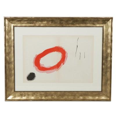 """Joan Miró Double Page Color Lithograph for """"Derrière le Miroir"""""""