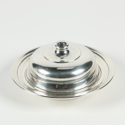Manchester Silver Co. Sterling Round Covered Butter Dish, 1914–1985