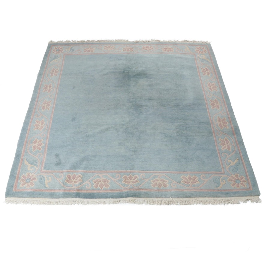 7 9 X 2 Hand Knotted Indo Persian Gabbeh Sculpted Wool Rug