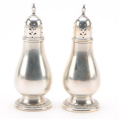 """International """"Prelude"""" Sterling Silver Salt and Pepper Shakers, Mid-Century"""