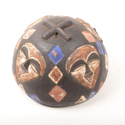 West African Polychrome Vessel Cover or Figural Carving