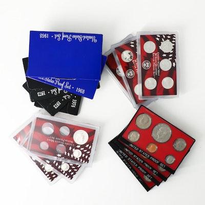 Twelve U.S. Mint Proof Sets