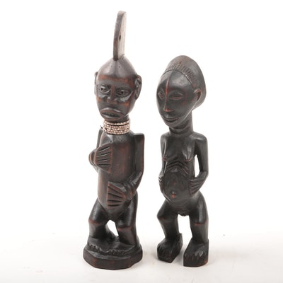 West African Hand-Carved Ancestral Figures