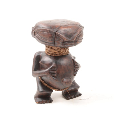 Decorative Wooden Pygmy Style Figure from Cameroon