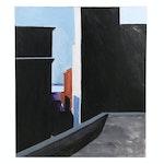 "Peter Rappoli 1976 Acrylic Painting ""#2"""