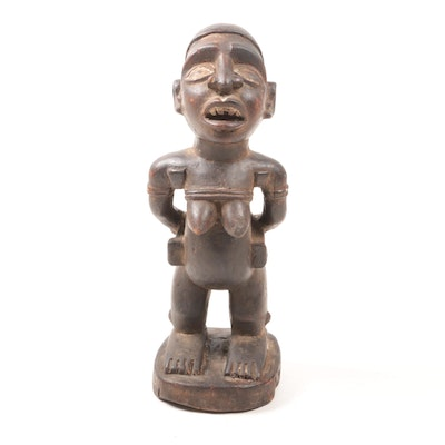 Wooden Figure from D. R. Congo