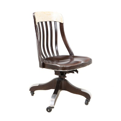 Vintage Painted Metal Banker's Chair