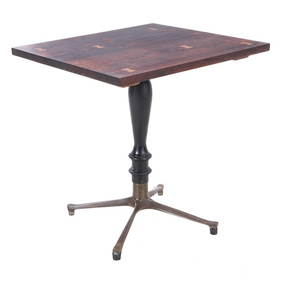 Lane Rosewood Table with Bowtie Inlay, Mid-20th Century