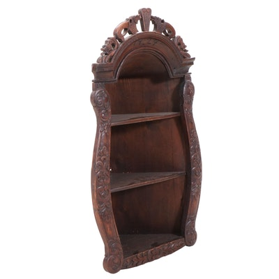 Irish Carved Corner Cabinet