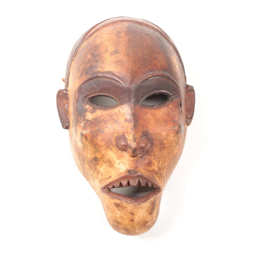 African Hand-Carved Wooden Mask
