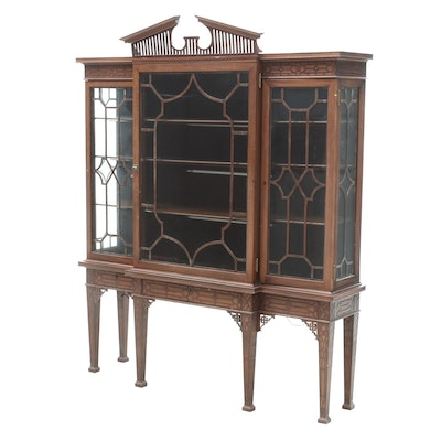 Chippendale Style Mahogany Display Cabinet from Lafayette Hotel, Lexington, KY