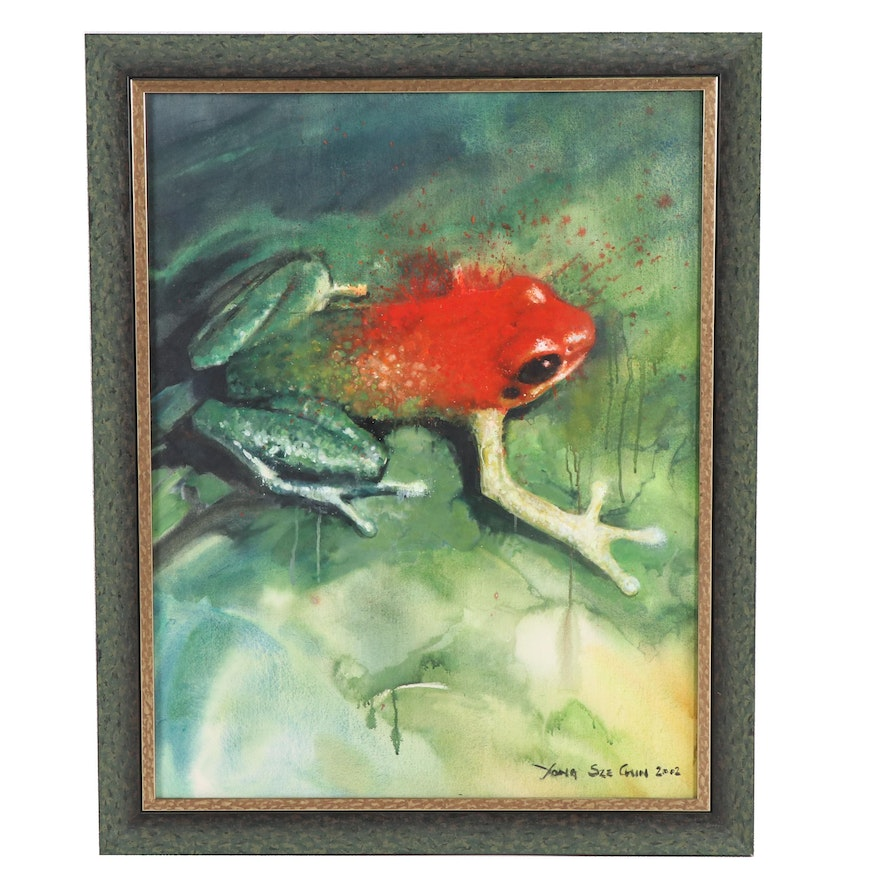 Yong Sze Chin Frog Acrylic Painting