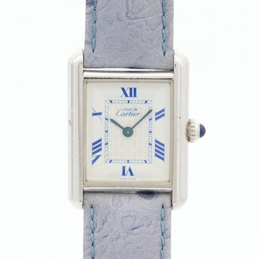 Cartier Must de Cartier Tank Vermeil 2416 Quartz Wristwatch