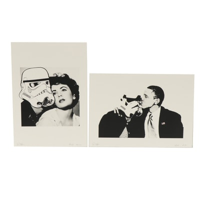 Support Illegal Art Graphic Prints with Stormtroopers