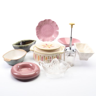 Haeger, Hull and Other Earthenware Serveware, Mid to Late 20th Century