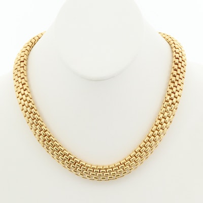 Fope 18K Yellow Gold Link Necklace