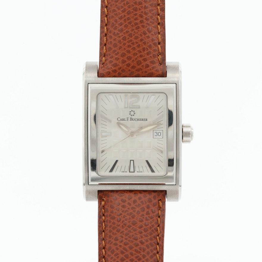 Carl F. Bucherer Antecedo Stainless Steel Quartz Wristwatch