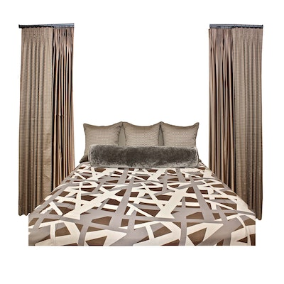 King Size Luxury Bedding and Draperies