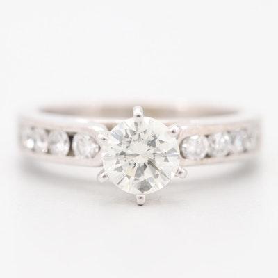 14K White Gold 1.40 CTW Diamond Ring