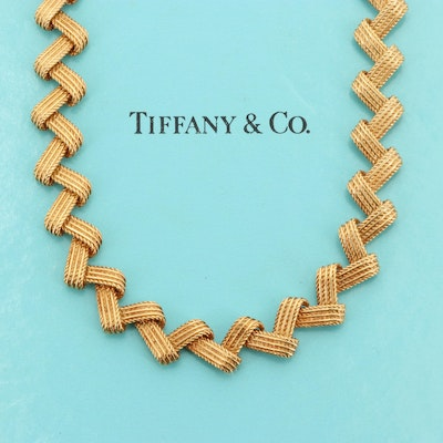 Mulnet et Cie for Tiffany & Co. 18K Yellow Gold Articulated Link Necklace