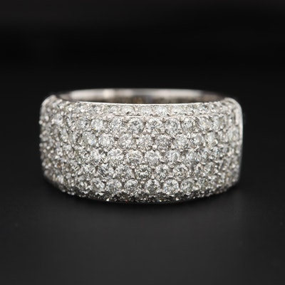 14K White Gold 2.10 CTW Diamond Ring