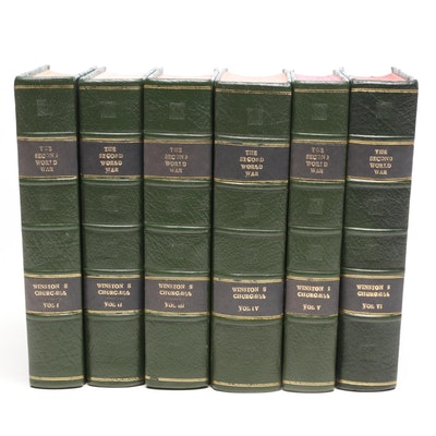 """Winston Churchill """"The Second World War"""" First Edition Complete Set"""