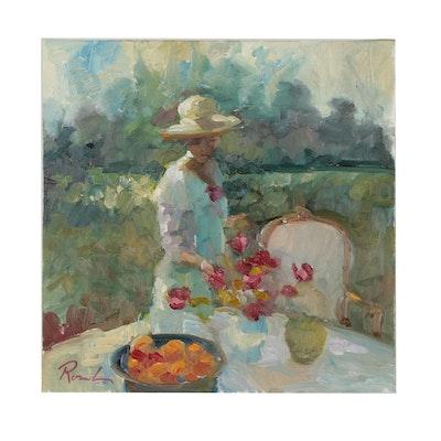 Sally Rosenbaum Oil Painting of Female Figure
