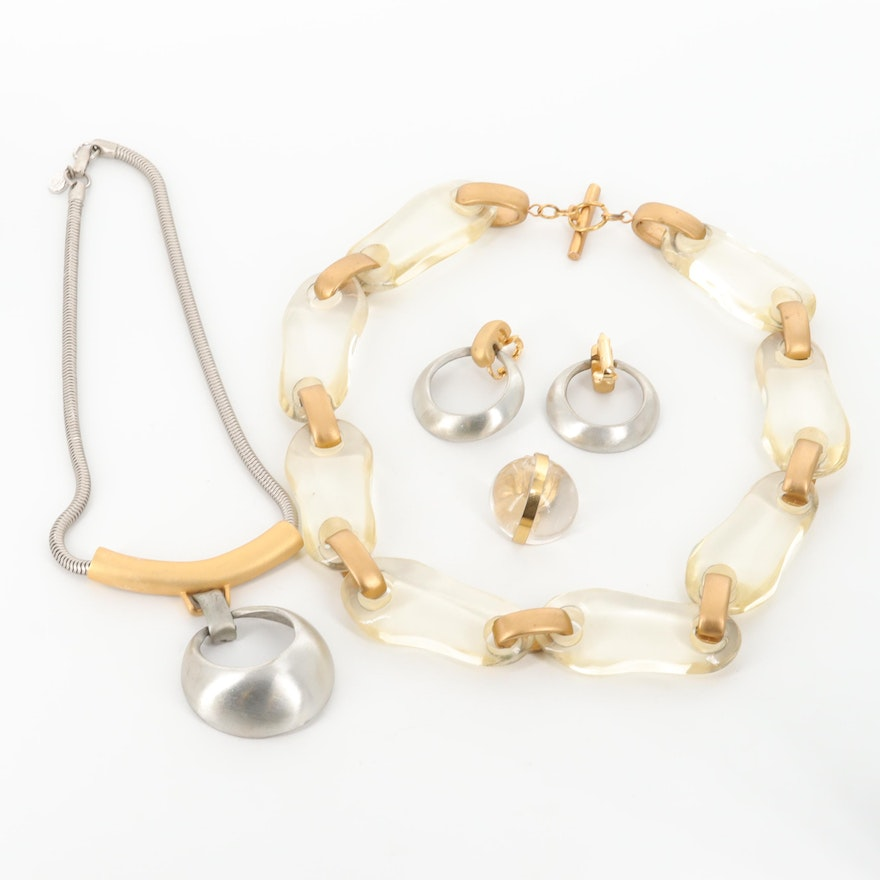 Necklaces and Earrings Including Lucite and Hobé