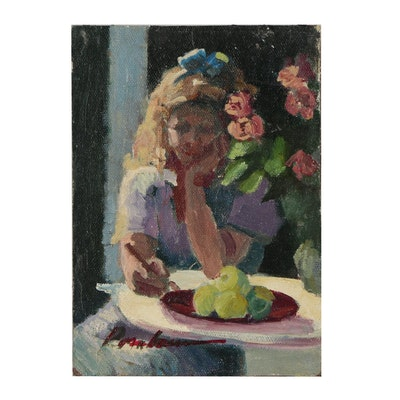 Sally Rosenbaum 2003 Oil Portrait of Young Woman