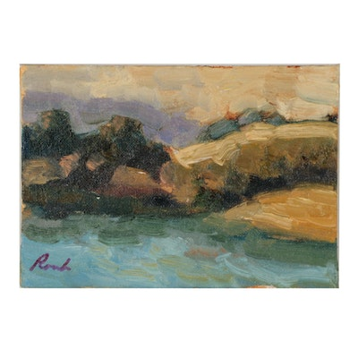 Sally Rosenbaum Abstract Landscape Oil Painting