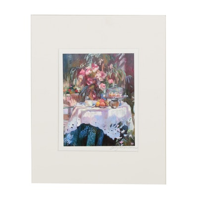 Sally Rosenbaum Impressionist Style Still Life Giclée