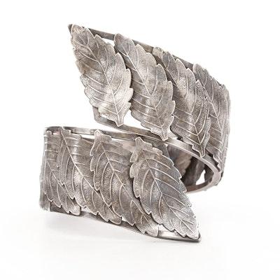 Sterling Silver Foliate Bracelet