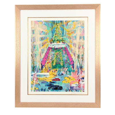 "LeRoy Neiman Serigraph ""View From Saks"""