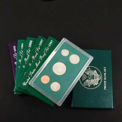 Eight U.S. Proof Sets from the 1990's