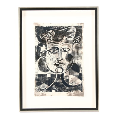 Abstract Portrait Serigraph