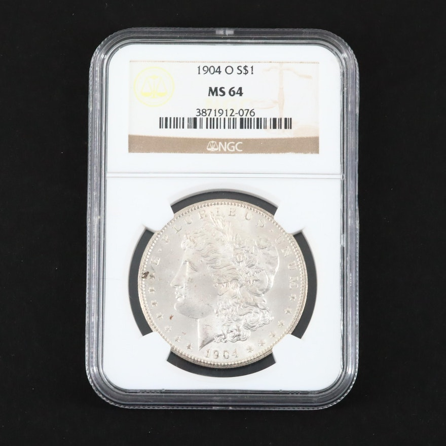 NGC Graded MS64 1904-O Silver Morgan Dollar