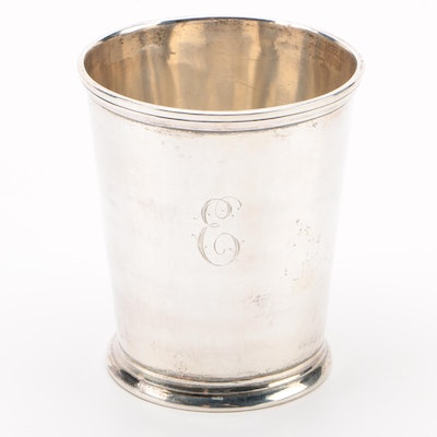 R & W Wilson of Philadelphia Coin Silver Julep Cup, Mid-19th Century
