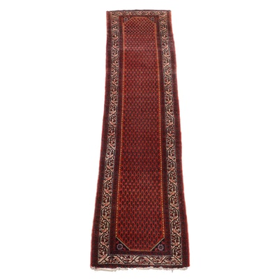 Hand-Knotted Persian Malayer Wool Carpet Runner