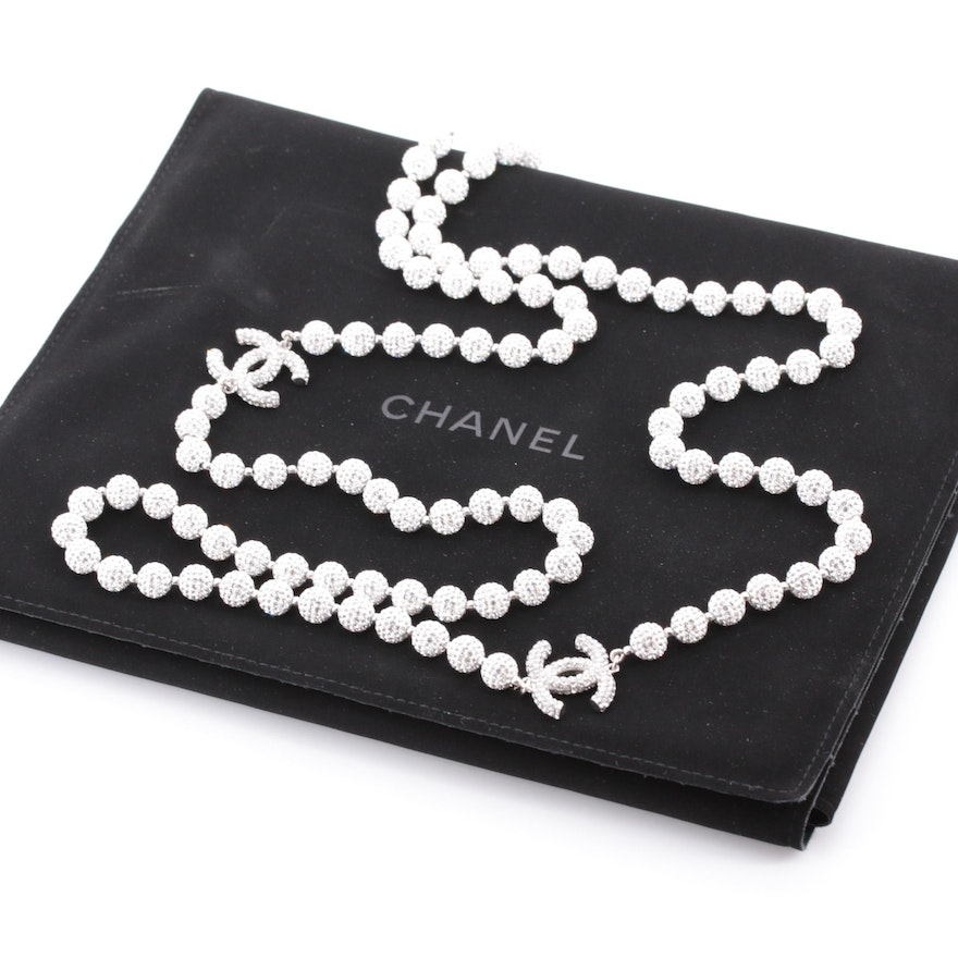 Chanel Double Strand Beaded Necklace