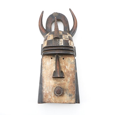 Decorative Wooden Toma Style Mask