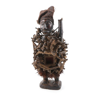 Decorative Power Style Figure from D. R. Congo