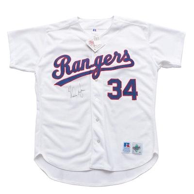 Nolan Ryan Signed Texas Rangers Replica Jersey  COA