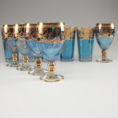 Fumo Brothers I Preziosi Gilded Wine and Water Glasses