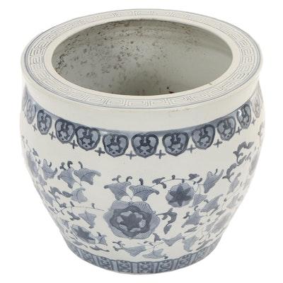 Chinese Blue and White Ceramic Jardinaire